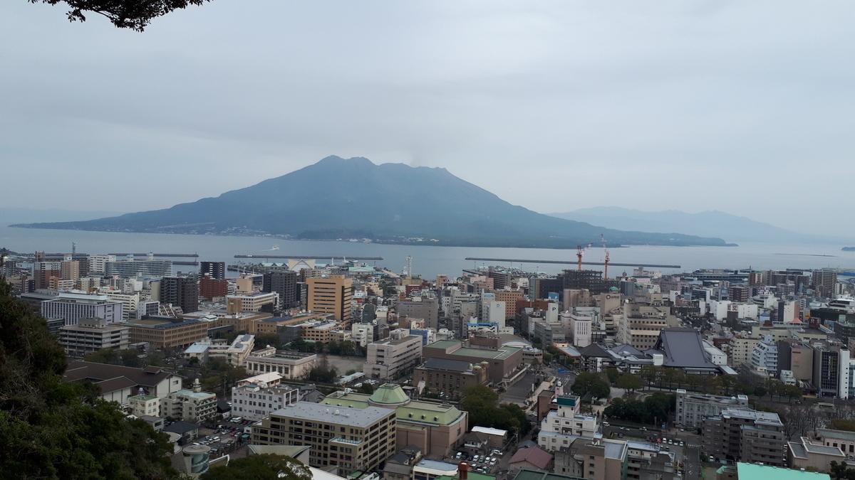 城山展望台から望む桜島