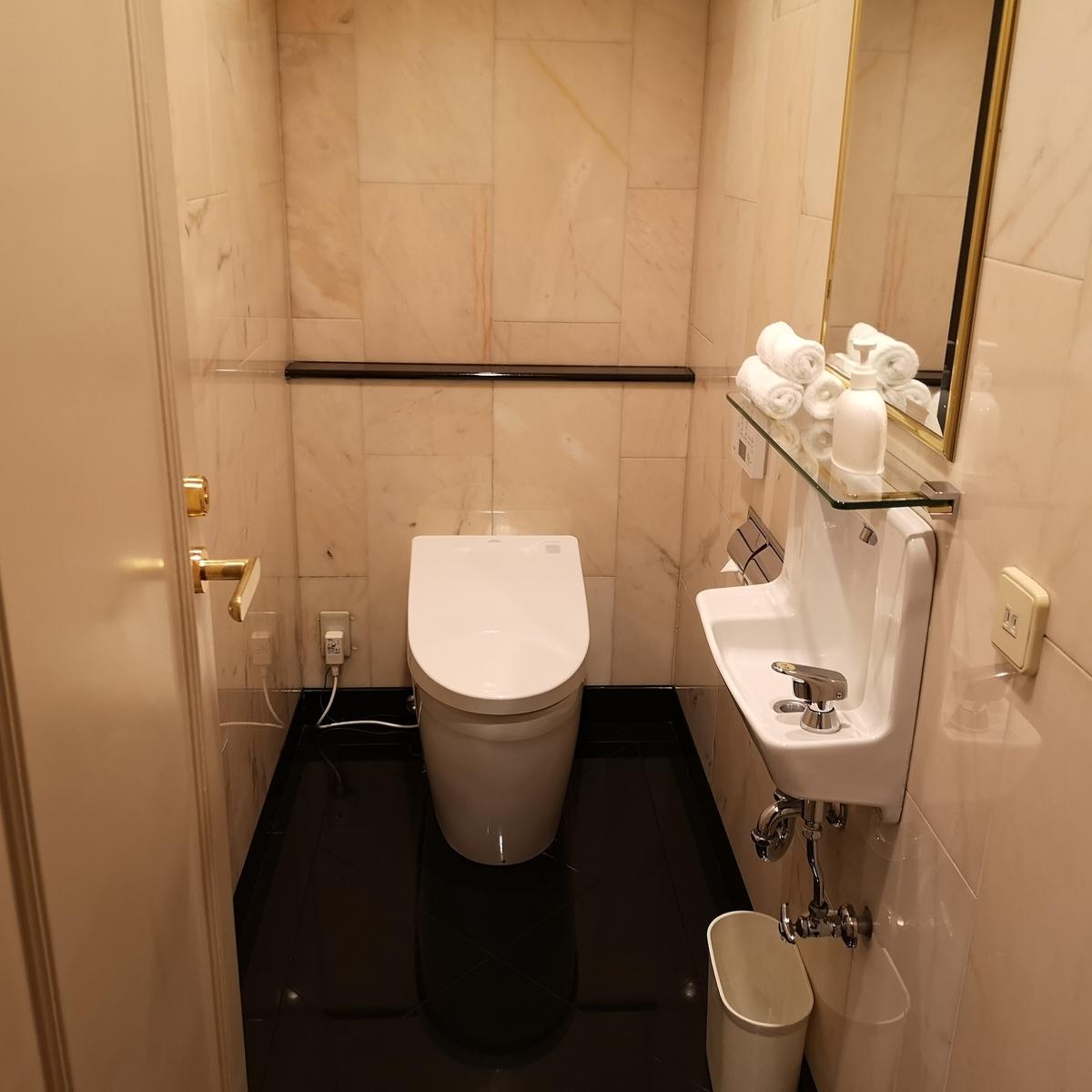 ウェスティンホテル大阪 エグゼクティブスイート お手洗い
